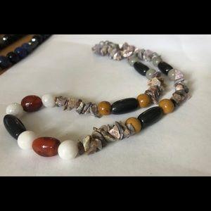 Multi-gemstone necklace